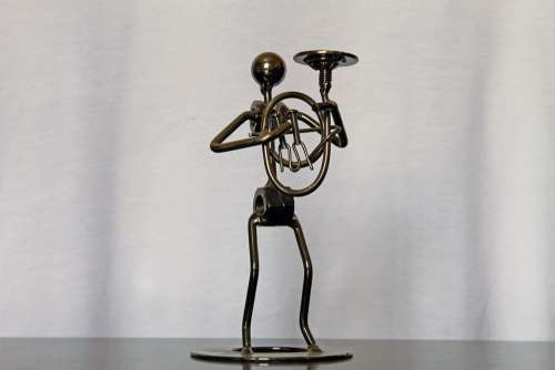 Statue Garnish Table Ornament Metal Doll Decoration