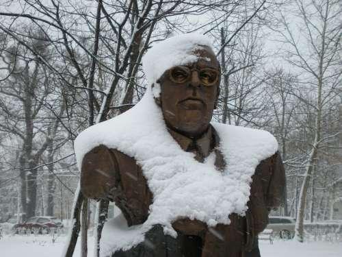 Statue Debrecen Hungary Klinikatelep Istvan Weint