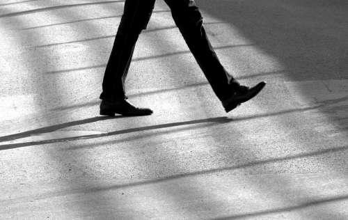 Step Road Shoes Pedestrian Asphalt Legs