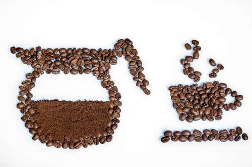 Still Life Coffee Beans Coffee Powder Coffee Cup