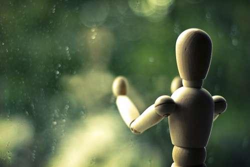 Still Life Rain Close Up Doll Atmospheric Green