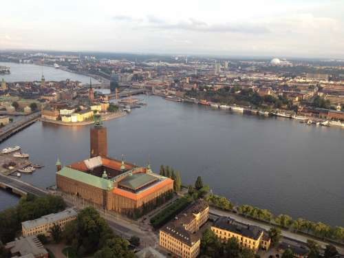 Stockholm Sweden Above Skyline Sky View