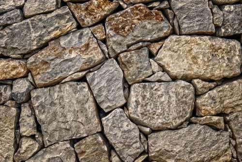 Stone Wall Rock Masonry Structure Pattern