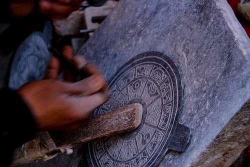 Stone Carving Nepal Kathmandu Stupa Buddhism