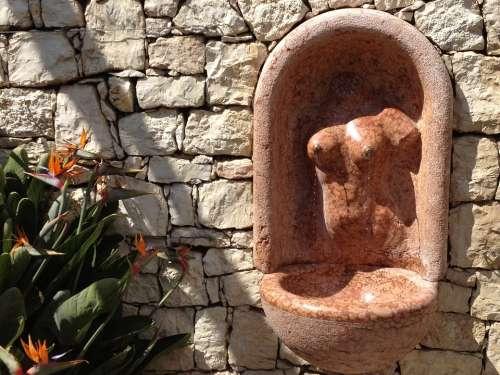Stone Sculpture Art Fountain Wall