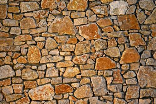 Stone Wall Masonry Seam Rock Natural Texture