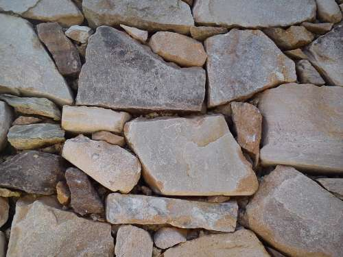 Stone Wall Stones Rustic Demarcation Separation