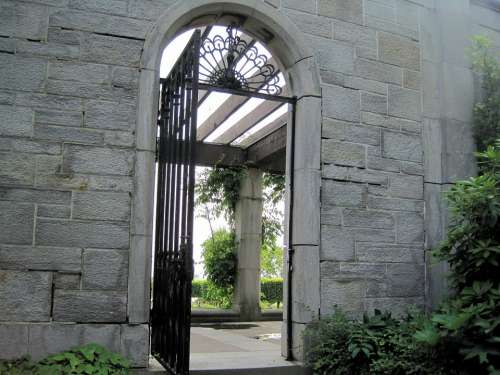 Stone Wall Arched Gate Ontario Canada
