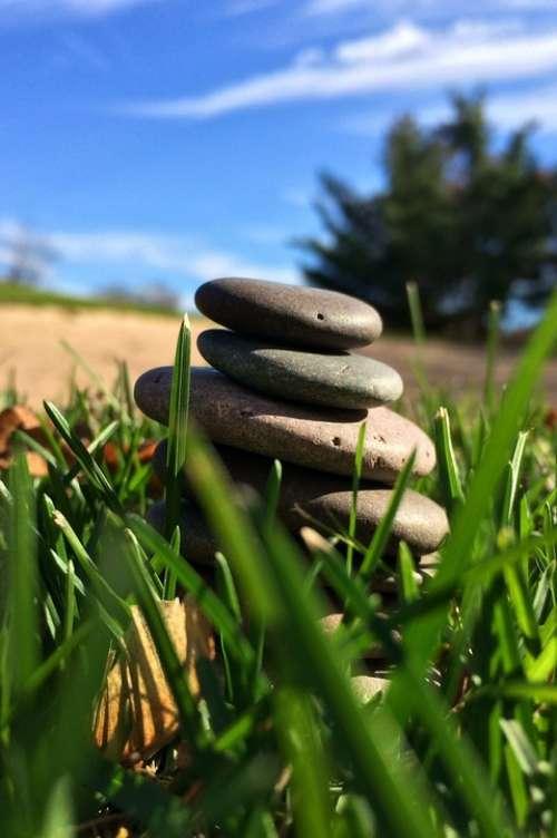 Stones Stacking Creative