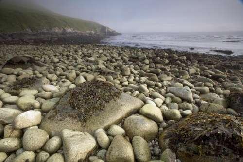 Stones Beach Water Landscape Nature Bay Coastline