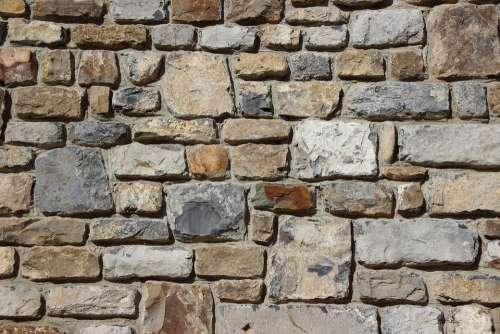 Stones Wall Background Quarry Stone Texture