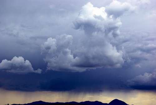 Stormy Sky Over Sleeping Ute Dark Clouds Sky Storm