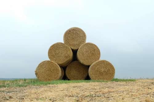 Straw Bales Landscape Agriculture Harvest Hay Bales