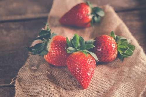 Strawberries Fruit Ripe Food Diet Snack Delicious