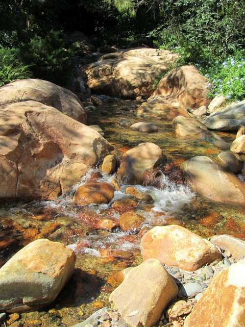 Stream Water Rocks Spring Creek Nature Stone