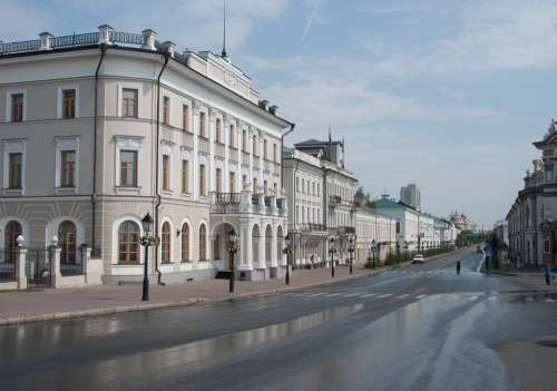 Street Kazan Tatarstan Russia Summer Building