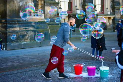 Street Artist Bubble Colorful