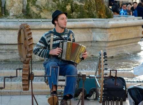 Street Musician Accordion Music Artist