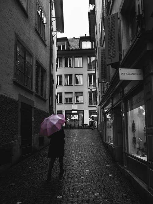 Street Photography Zurich Umbrella Rainy Weather