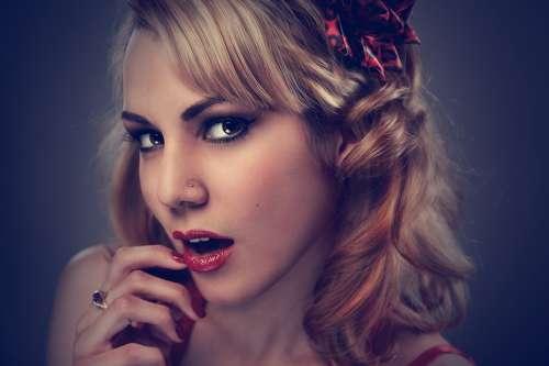Woman Portrait Face Model Beauty Artistic Sensual
