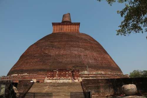 Stupa Buddhist Temple Sri Lanka Ancient