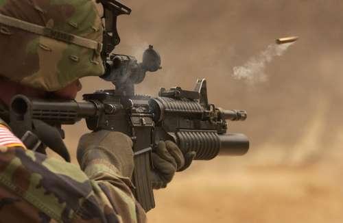 Submachine Gun Rifle Automatic Weapon Weapon Shoot