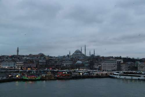 Süleymaniye Istanbul Eminönü On City Islam Turkey