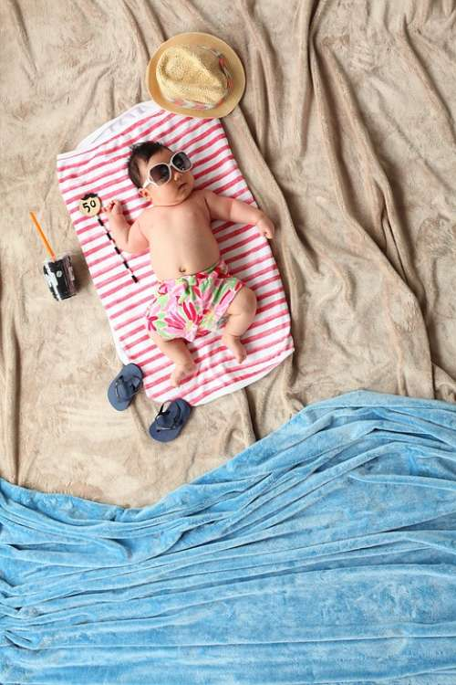 Summer Baby Beach Children Little Cute Kid Towel