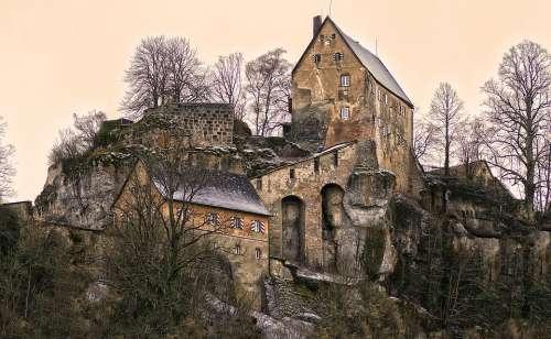 Summit Castle Burgruine Ruin Castle Ruin Castle