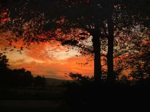 Sun Sunset Sky Abendstimmung Nature Evening Sky
