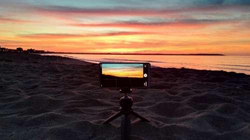 Sunrise Beach Coast Early In The Morning