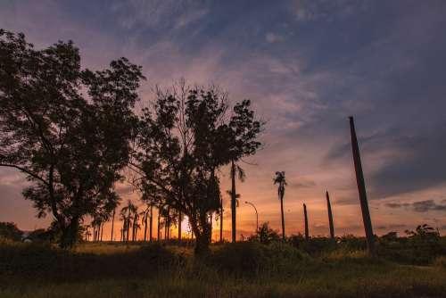 Sunrise Landscape Nature Sunset Outdoors Haze Sky