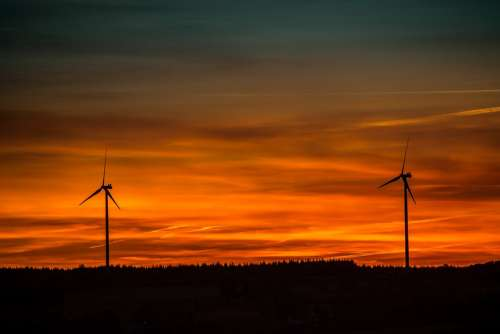 Sunset Wind Energy Renewable Energy Wind Power