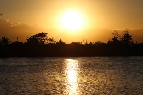 Sunset Sun Landscape Sky Nature Evening Twilight