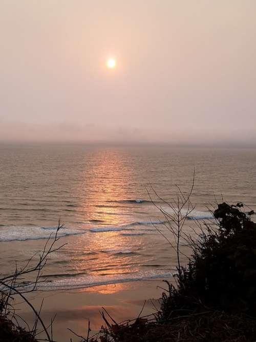 Sunset Ocean Landscape Sea Beach Sky Water