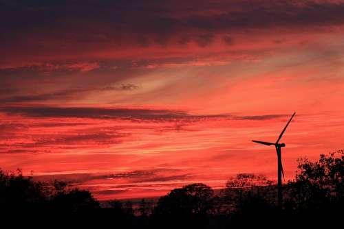 Sunset Afterglow Evening Sky Nature Pinwheel