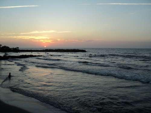 Sunset Sun Beach Sky Colombia Sea