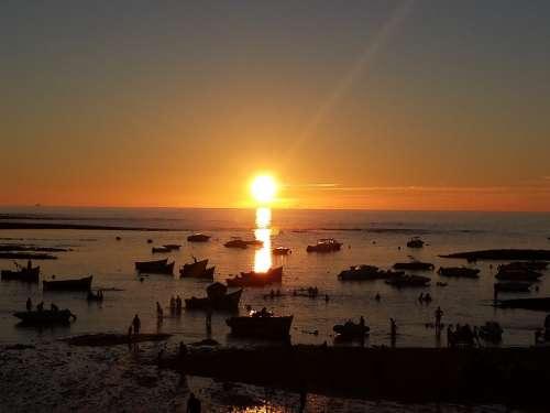 Sunset Casablanca Beach Morocco Beach
