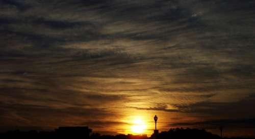 Sunset Evening Sky Cloud Dusk View Outdoor