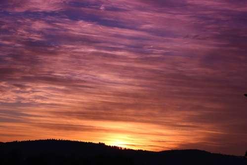 Sunset Sky Evening Sky Dusk Sun Lichtspiel