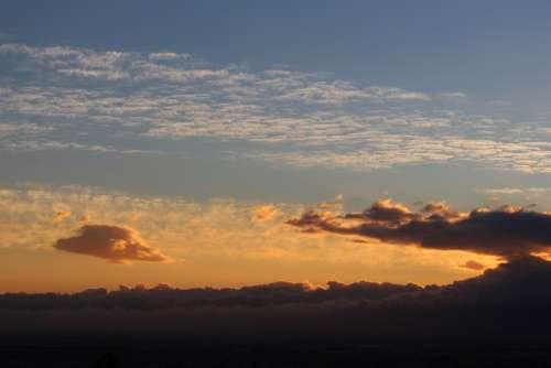 Sunset Cloud Formation Clouds Mood Sky Evening Sky