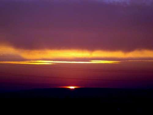 Sunset Sky Cloud Sun In The Evening