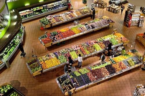 Supermarket Stalls Coolers Market Food Fresh Shop