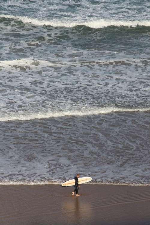 Surf Waves Sea