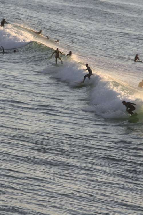 Surf Biarritz Sea Summer