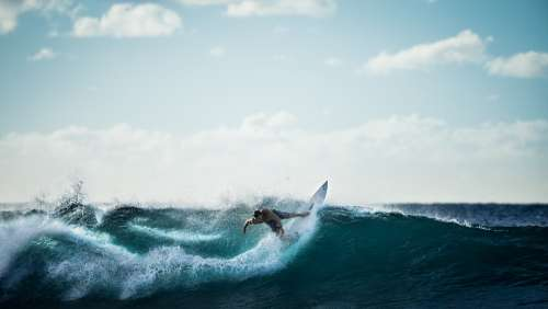 Surfing Surfer Wave Ocean Sea Water Sports