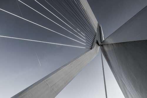 Suspension Bridge Concrete Architecture Steel