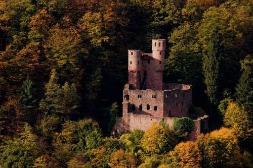Swallow'S Nest Castle Neckar Ruin Germany