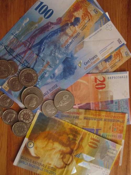 Swiss Franc Money Switzerland Coins Seem