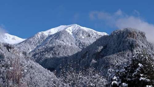 Switzerland Mountains Snow Alpine Landscape Nature